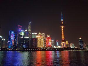 Reisen - Shanghai Skyline bei Nacht