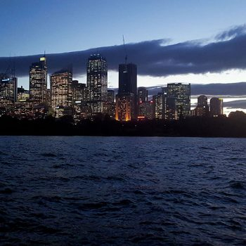 Reiseziele Australien - Sydney- Skyline (Mrs Macquarie's Chair)