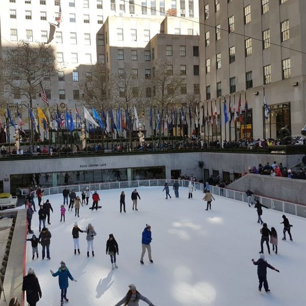 New York Rockefeller Center Eislaufbahn